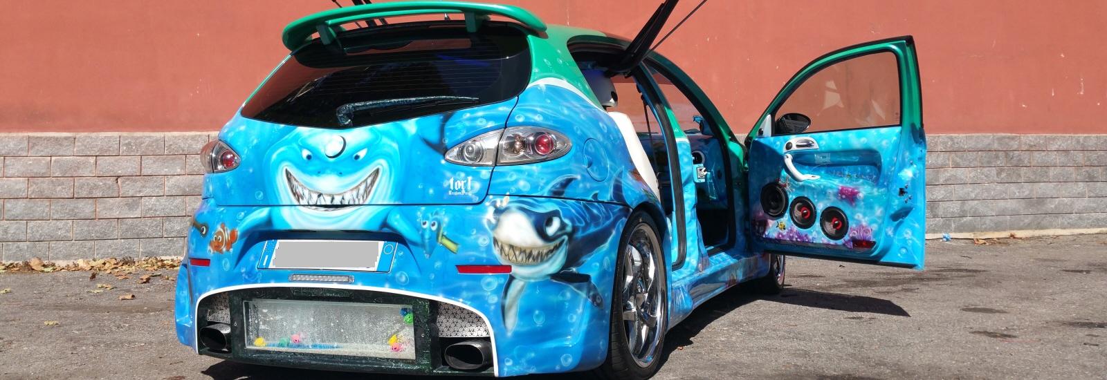 La Mascotte Alfa 147 di Nemo